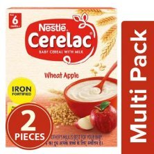 Nestle Cerelac Baby Cereal With Milk, Wheat Apple - From 6 Months