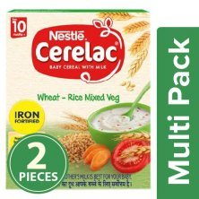Nestle Cerelac Baby Cereal With Milk, Wheat-Rice Mixed Veg - From 10 Months