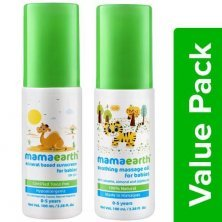 Mamaearth Baby Oil - Soothing Massage + Baby Lotion - Sunscreen, 0-5 years (100 ml each)