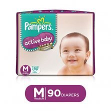 Pampers Active Baby Baby Diaper - Pants, Medium, 6-11 kg, Soft Cotton, Soaks up to 12 Hours