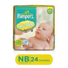 Pampers Active Baby New Born Baby Diaper - Pants, Up to 5 kg, Soft Cotton, Soaks up to 12 Hours