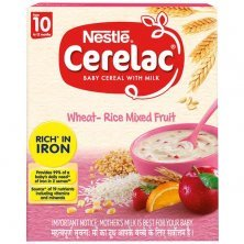 Nestle Cerelac Baby Cereal with Milk - Wheat-Rice Mixed Fruit, From 10-12 Months, Rich in Iron