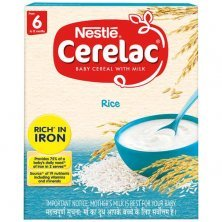 Nestle Cerelac Baby Cereal with Milk - Rice, From 6-12 Months, Rich in Iron