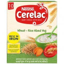 Nestle Cerelac Baby Cereal with Milk - Wheat-Rice Mixed Veg, From 10-12 Months, Rich in Iron