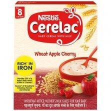 Nestle Cerelac Baby Cereal with Milk - Wheat Apple Cherry, From 8-12 Months, Rich in Iron