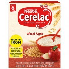 Nestle Cerelac Baby Cereal with Milk - Wheat Apple, From 6-12 Months, Rich in Iron
