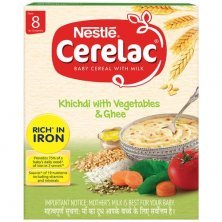 Nestle Cerelac Baby Cereal with Milk - Khichadi with Vegetables & Ghee, From 8-12 Months, Rich in Iron