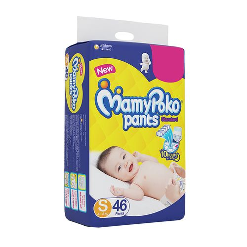 Mamypoko Standard Baby Diaper - Pants, Small, 4-8 kg, Prevents Leakage for 10 Hours