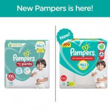 Pampers Baby Diaper - Pants, Double Extra Large, 15-25 kg, Soft Cotton, Soaks up to 12 Hours