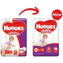 Huggies Wonder Dry Baby Diaper - Pants, Double Extra Large, 15-25 kg, Soft Cotton, Soaks up to 12 Hours