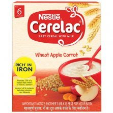 Nestle Cerelac Baby Cereal with Milk - Wheat Apple Carrot, From 6-12 Months, Rich in Iron