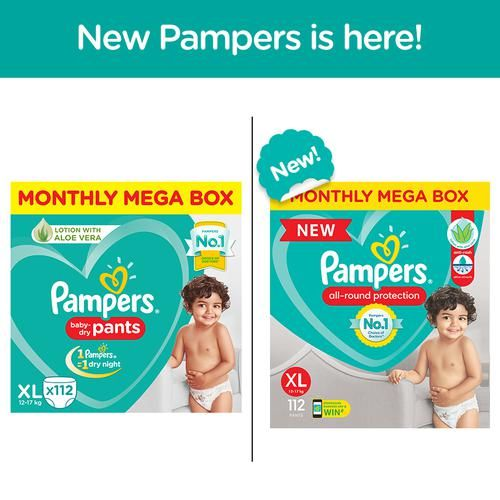 Pampers Xtra Large New Monthly Box - 112 Diaper Pants