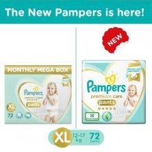 Pampers Premium Care Xtra Large Monthly Box Pack - 72 Diaper Pants