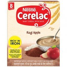 Nestle Cerelac Baby Cereal with Milk - Ragi Apple, From 8-12 Months, Rich in Iron