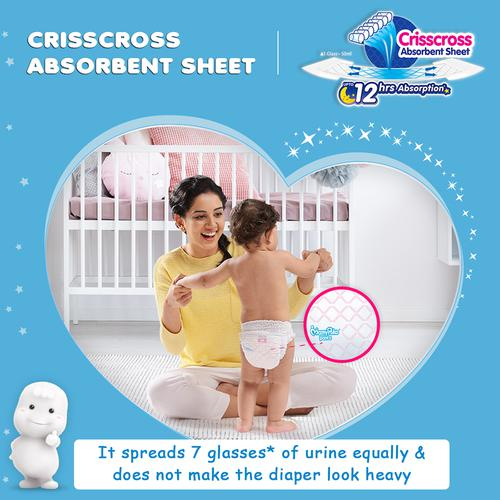 Mamypoko Extra Absorb New Born Baby Diaper - Pants, Size 1, Up to 5 kg, Prevents Heaviness, Soaks up to 12 Hours