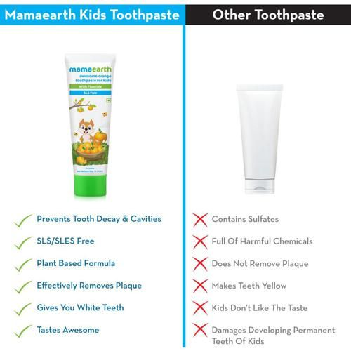 Mamaearth Orange Toothpaste For Kids