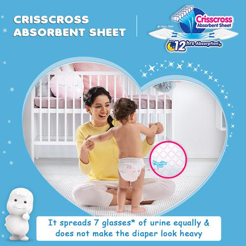 Mamypoko Extra Absorb Baby Diaper - Pants, Medium, 7-12 kg, Prevents Heaviness, Soaks up to 12 Hours