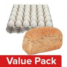 Bread - Whole Wheat, Chemical Free 400G + Eggs - Table Tray 30pcs