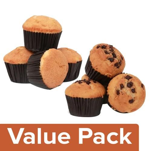 Signature Muffin/Cup Cake Vanilla 200 g + Choco Chip 200 g (Pack of 4 each)
