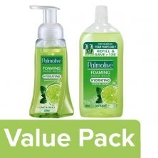 Palmolive Hand Wash Hydrating, Foaming, Lime & Mint - 250 ml Pump + 500 ml Refill Pack
