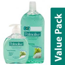 Palmolive Hand Wash - Sea Mineral, Imported 250ml + Hand Wash - Natural, Sea Mineral 500ml