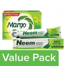 Combo Margo Bathing Soap 100gm Buy 4 Get 1 Free + Neem Toothpaste-Complete Care 200gm