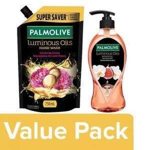 Palmolive Body Wash Fig Oil & White Orchid Extracts + Invigorating Handwash Refill (750ml)