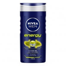 Nivea Men Energy Shower Gel With Mint Extracts For Body, Face & Hair