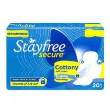 STAYFREE Secure Cottony Soft Sanitary Pads With Wings