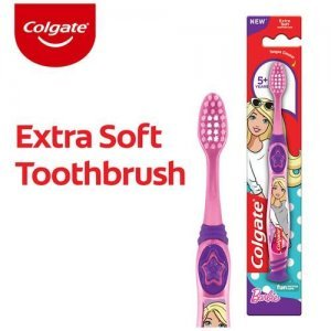 Colgate Kids Barbie Toothbrush - Extra Soft With Tongue Cleaner