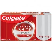Colgate Visible White Toothpaste - Sparkling Mint, Saver Pack