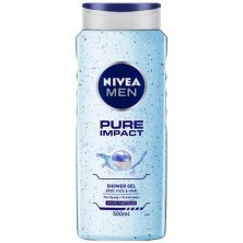 Nivea Men Pure Impact Body Wash With Purifying Micro Particles - Shower Gel For Body, Face & Hair