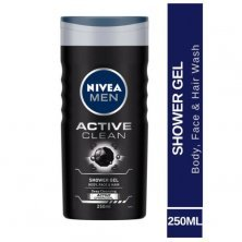 Nivea Men Active Clean Body Wash With Active Charcoal - Shower Gel For Body, Face & Hair