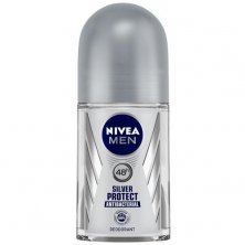 Nivea Men Deodorant Roll On, Silver Protect, Antibacterial Odour Protection For 48h Freshness