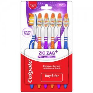 Colgate ZigZag Anti-Bacterial Toothbrush - Soft