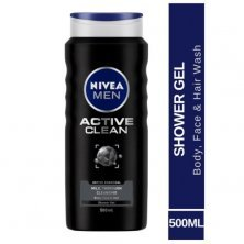 Nivea Men Active Clean Shower Gel With Active Charcoal For Body, Face & Hair