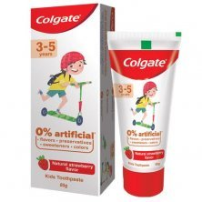 Colgate Kid's Toothpaste - 3-5 years, Natural Strawberry Flavour, 0% Artificial