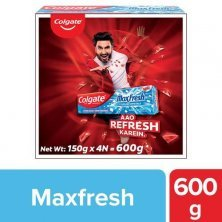 Colgate MaxFresh Toothpaste - Blue Gel With Menthol For Super Fresh Breath, Peppermint Ice