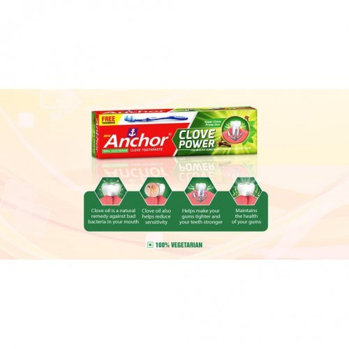 Anchor Clove Power Toothpaste 20 gm free Toothbrush