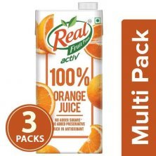 Real Activ 100 % Orange Juice - With No Added Sugar and Preservative