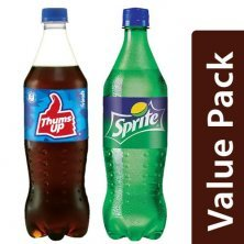 Combo Thums Up Soft Drink 750 ml + Sprite Soft Drink - Lime Flavoured 750 ml