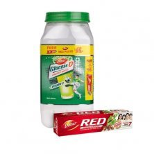 Dabur Glucose -D Energy Boost with Vitamin D with Dabur Red Paste 200 g Free