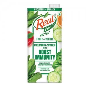 Real Activ Cucumber Spinach Juice with No Added Sugar or Preservatives