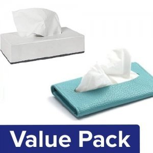 Home Pocket Tissue - 3 Ply 10Sheets Pack of 6 + Facial Tissues - 2 Ply 100Pulls