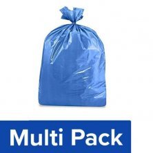 Home Garbage Bags - Compostable, 100% Corn Starch, Large, Blue, Mono-Carton(24x32 Inches)