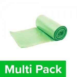 Home Garbage Bags - Compostable, 100% Corn Starch, Large, Green, Mono-Carton(24x32 Inches)