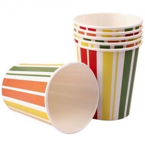 Origami Printed Paper Party Cups