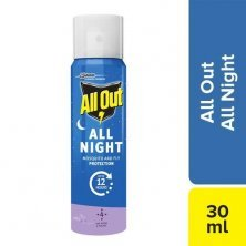 All Out All Night Mosquito & Fly Killer Mini Spray