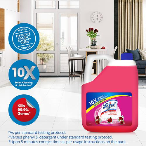 Lizol Disinfectant Surface & Floor Cleaner Liquid - Floral, Kills 99.9% Germs