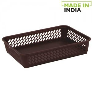 Polyset Plastic Super Tidy Tray No 1 - Brown, Large